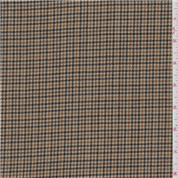 *1 1/2 YD PC--Tan Houndstooth Wool Suiting