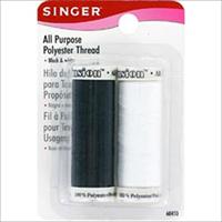 All Purpose Polyester Thread-Black & White