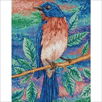 Blue Bird Counted Cross Stitch Kit-10X13 28 Count