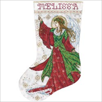 Angel Of Joy Stocking Counted Cross Stitch Kit-17 Long 14 Count