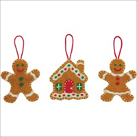 Feltworks Needlecrafts-Sweet Gingerbreads Ornaments