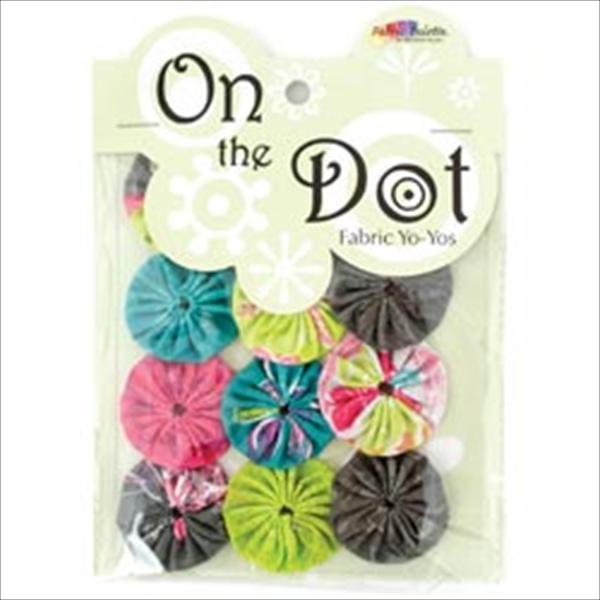Fabric Palette On The Dot Yo-Yos 1.5 100% Cotton 10/Pkg-Kingston