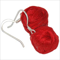 Yarn Ball Earrings 2/Pkg-Red