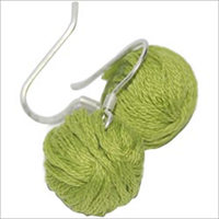 Yarn Ball Earrings 2/Pkg-Lime
