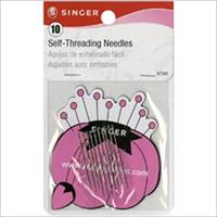 Self-Threading Needles With Storage Magnet-10/Pkg