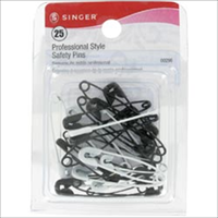 Professional Style Safety Pins-Black & White 25/Pkg