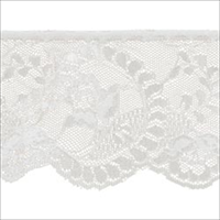 Flower Cameo Lace 3-7/8 Wide 12 Yards-White