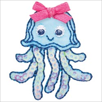 Sequin Jellyfish Iron On Applique-1.62X1.87 1/Pkg