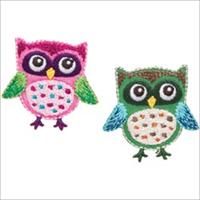 Owls Iron On Applique-1-3/4X1-1/2 2/Pkg