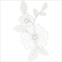 Elegant Expression White Flower Applique-1/Pkg