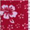 *3/4 YD PC--Floral Red Fleece