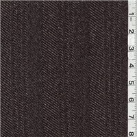 *2 YD PC--Black/Dark Tan Wool Coating