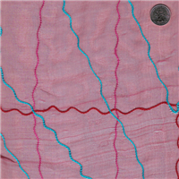 *1 5/8 YD PC--Burgundy Embroidered Organza
