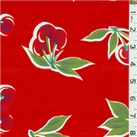 *7/8 YD PC--Red Cherry Oilcloth