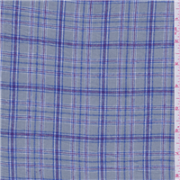 *7 YD PC--Pewter Grey Plaid Flannel