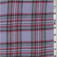 *7/8 YD PC--Lavender Plaid Flannel