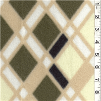 *2 YD PC--Diamond Plaid Olive Fleece