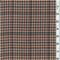 *3/4 YD PC--Tan/Rust Wool Coating