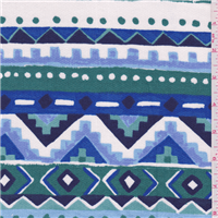 *1 1/4 YD PC--Blue Aztec French Terry