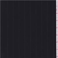 *5 YD PC--Dark Navy Blue Stripe Suiting