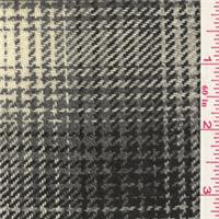 *2 YD PC--Grey/Ivory Plaid Wool Coating