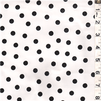 *1 1/4 YD PC--Black Dot Oilcloth