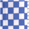 *3/4 YD PC--Blue/White Domino Fleece