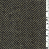 *1 3/4 YD PC--Olive/Black Herringbone Coating