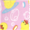 *1 7/8 YD PC--Bubble Duck Pink Fleece