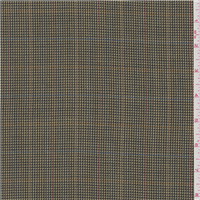 *2 YD PC--Olive Green Plaid Wool Suiting