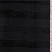 *1 1/8 YD PC--Black Satin Stripe