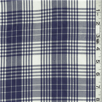 *1 YD PC--Ivory/Blue Plaid Suiting