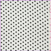 *3 YD PC--White/Black Dot Charmeuse