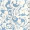 *1 YD PC--Natural/Blue Minky Fleur