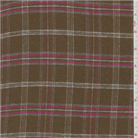 *5 YD PC--Tobacco Brown Plaid Flannel