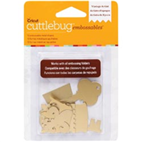 Cuttlebug Embossables Metal Shapes 10/Pkg-Vintage Artist Gold
