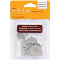 Cuttlebug Embossables Metal Shapes 10/Pkg-Vintage Artist Silver