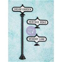 Shabby Chic Metal Treasures-Antique Street Signs 3/Pkg
