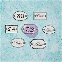 Shabby Chic Metal Treasures-Door Signs 7/Pkg