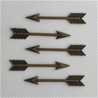 Vintage Findings 2.4X.4 5/Pkg-Perfect Shot Arrow