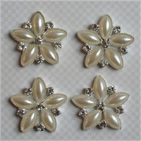 Vintage Findings .9 4/Pkg-Pearl Floral