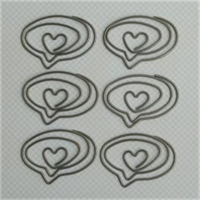 Vintage Metal Trinkets 6/Pkg-Love Speech Bubble Clips 1.6X1.1