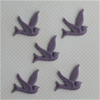 Soaring Bird Resin Embellishments 1X.8 5/Pkg-Lilac