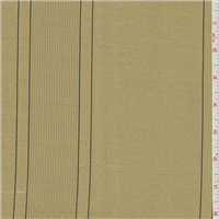 *6 1/2 YD PC--Metallic Gold Stripe Silk Drapery