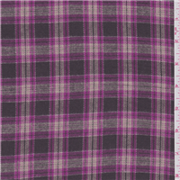 *2 YD PC--Brown/Pink Plaid Flannel