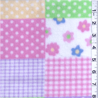 *1 1/4 YD PC--Baby Patches Pink Fleece