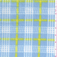 *1 3/4 YD PC--Blue Plaid Fleece