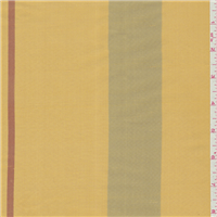 *3 YD PC--Marigold Stripe Silk Dupioni