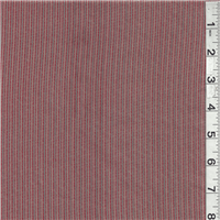 *1 1/2 YD PC--Red/Taupe Stripe Pima Cotton