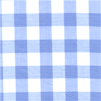 *1/2 YD PC--Blue 1 Inch Gingham